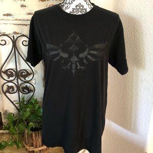 Legend of Zelda slightly faded black tee shirt